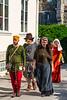 Residents in period dress celebrate Medieval Week in Visby, Gotland, Sweden.