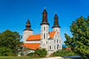 The exterior of the Visby Cathedral in Visby, Gotland, Sweden.