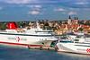 Destination Gotland ferries docked at Visby, Sweden.
