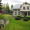 This is from 2012 trip..Paula, Annika and her now married daughter Lisa, after we had walked around the house. The Norwegian owner, has since enhanced the landscaping on the other side also. Lisa is now married to an American musician, living in Visby with their 2 small kids, Lova and Theodore.