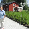 One of my oldest friend, Gunnel, now 79, with her husband Lennart. Her parents were the farmers who got to live in the house in background, while managing the farm for my grandparents for some 40 years. They still live in the house in background.