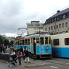 Just like at Marstrand..New and Old streeetcar---the old one, only goes back and forth to the amusement Park, Liseberg.