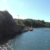 Entering a pretty canal short cut..almost in Marstrand.