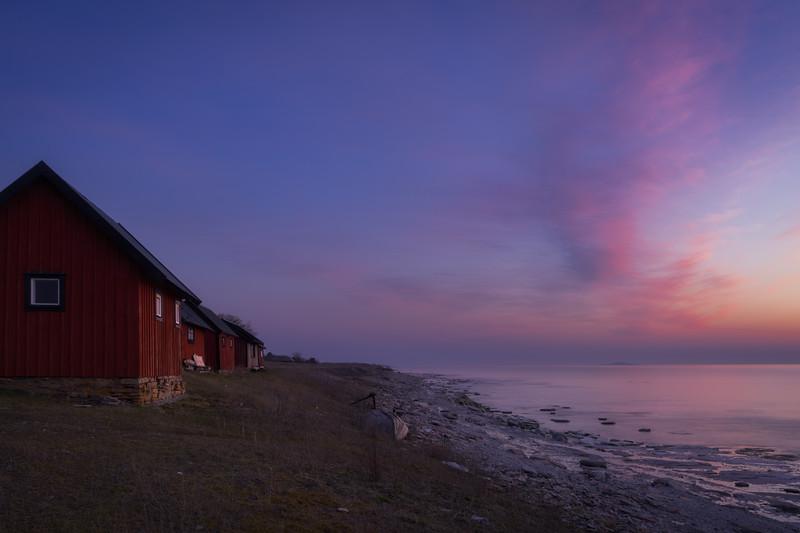 Evening De-light on the Shore