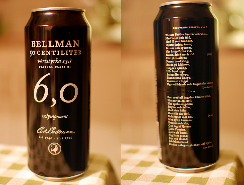 My favorite Swedish beer. They've added a drinking song on the can just in case you feel the urge...