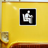 For the elderly. Be polite and give up your seat!