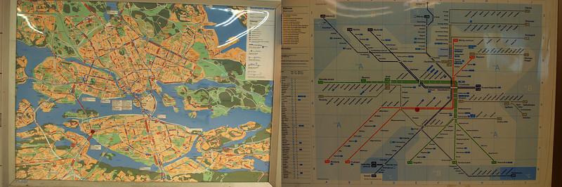 City and subway map.