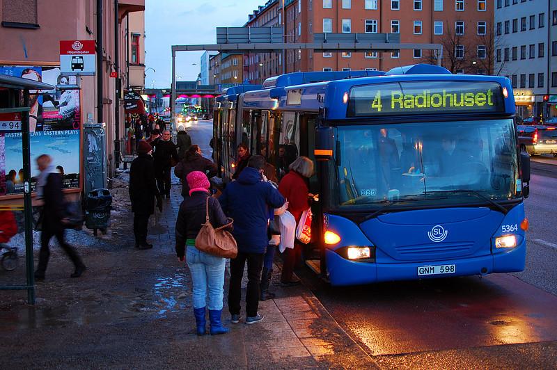 Högalidsgatan bus stop outside our apartment