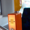 "On the Bus: The orange ""open door"" button is important. Doors do not always open automatically so you can be left standing while the bus drives away! The yellow & red stop button is for well, you know... hit the button before your stop."