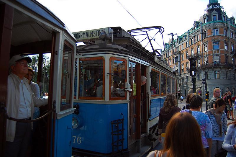 Heritage tram on the Djurgården line (summer only)