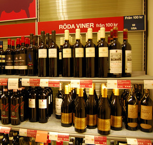 """Red wine from $14"" Wine is separated by price and then by variety."