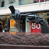 Carl Fredrik Reutersward's  iconic statue of a revolver barrel tied in a knot. Sweden