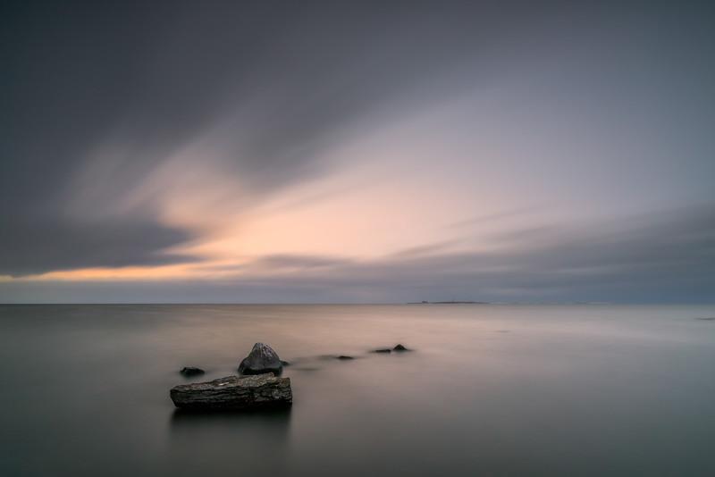 Afterglow at the Baltic Seashore