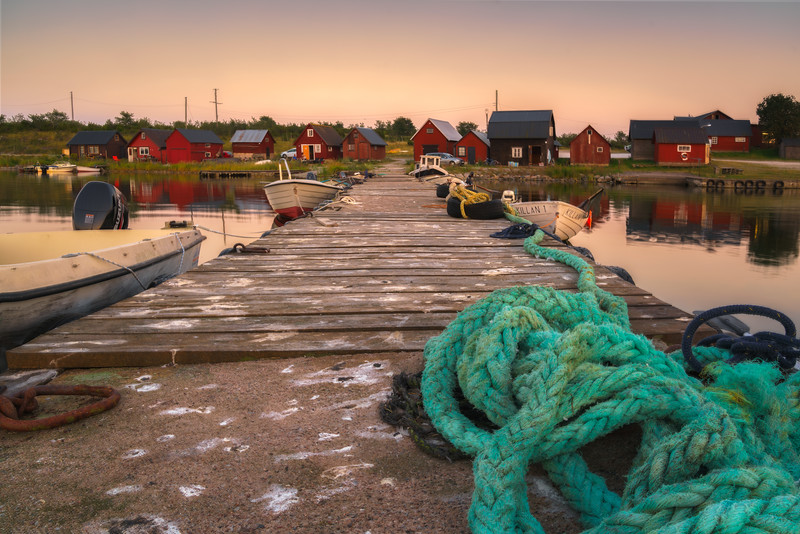 Summer Evening at the Fishing Station Sysne
