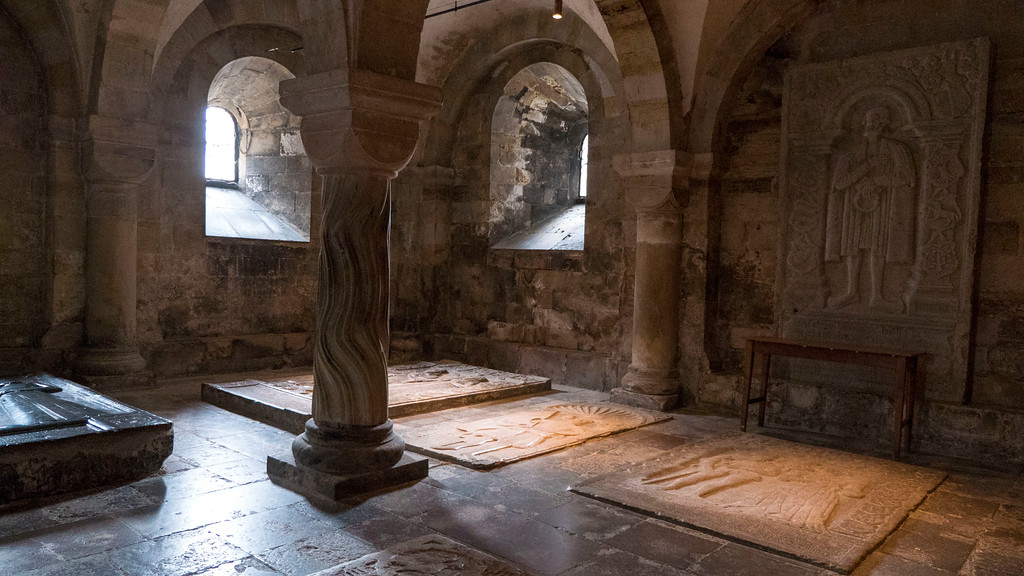 The crypt of Lund Cathedral - Lund Sweden on a day trip from Copenhagen