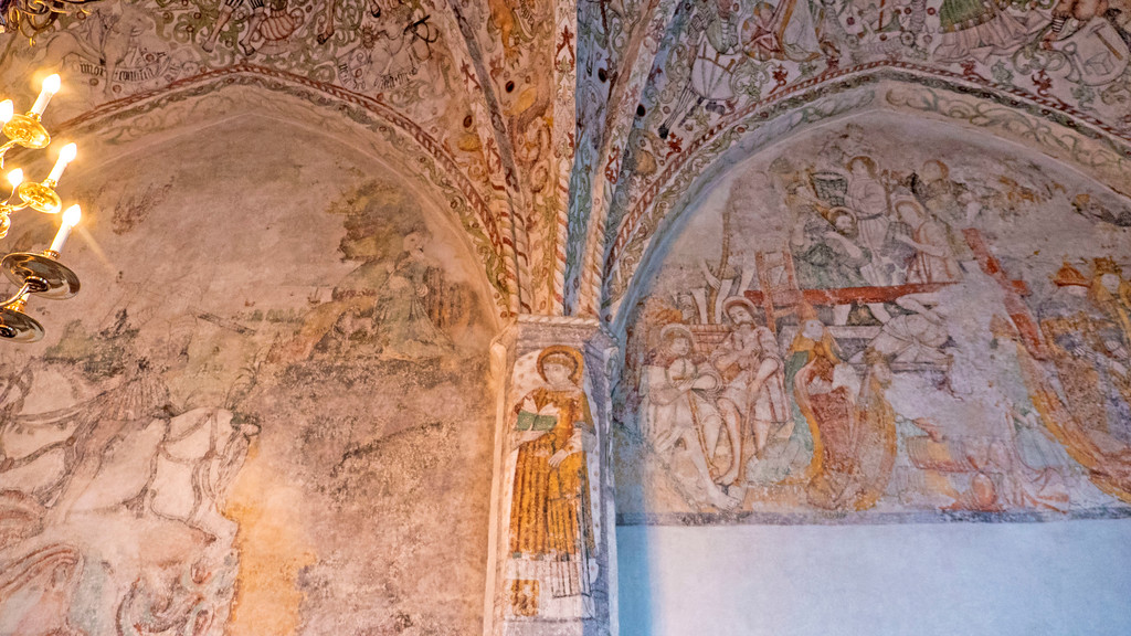 St Peter's Church Frescoes - St Petri - Malmo Sweden Fresco - Malmo attractions and what to see in Malmo