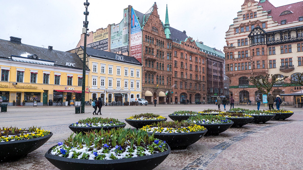 Stortorget, main square in Malmo - one day in Malmo Sweden