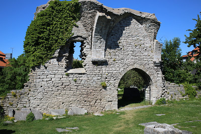 Visby, Gotland  Ruins from long ago.