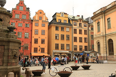 Gamla Stan, Sweden  Stortoget Square Where the Stockholm Bloodbath occurred in 1520.  http://en.wikipedia.org/wiki/Stockholm_Bloodbath