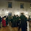 Post-banquet dancing in the hall.