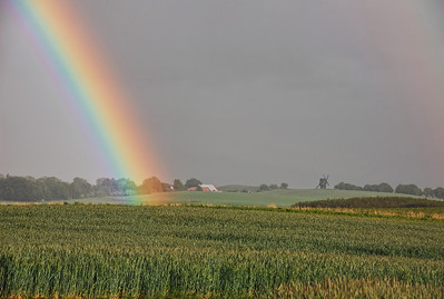 field-rainbow-windmill