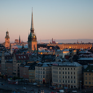 October 22 - Sunrise over Gamla Stan
