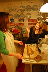 Denise & Eva making home made ginger cookies