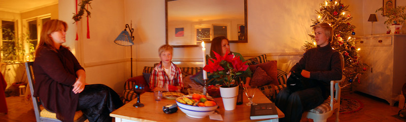 Christmas evening in Drottningholm at Dag & Eva's home