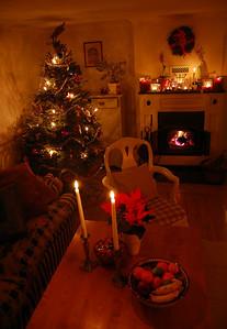 Christmas evening in Drottningholm at Dag & Eva's home