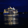 Cruise ship leaving Stockholm