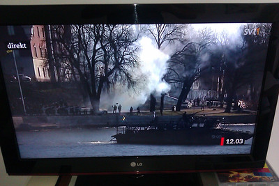 Under attack! Cannon fire in Stockholm! Oh wait, today a Royal baby was born... :)