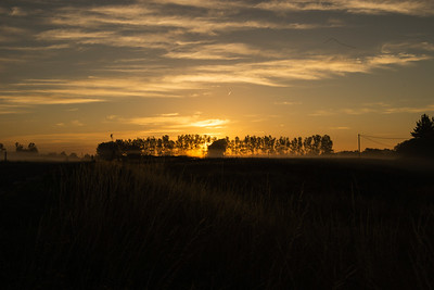 Off the road sunrise