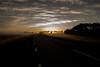 On the road sunrise