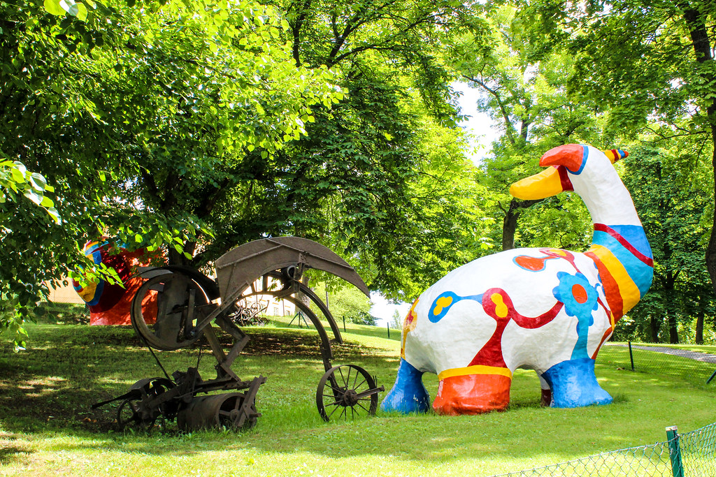 check out the funky outdoors art in stockholm