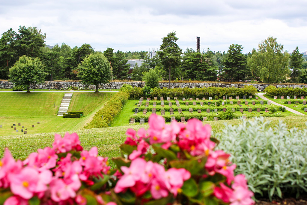 woodland cemetery in stockholm is peaceful and green