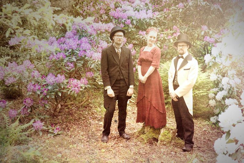 Swedes in vintage costume, botanical gardens, Gothenburg.