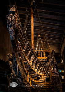 The Vasa, an ancient Swedish ship raised from the Stockholm harbor