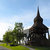 The well known Frösö Church and the Bell Tower.