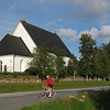 Östersund...this church is on island of Frösö on Storsjön...bikers and skate skiers everywhere.