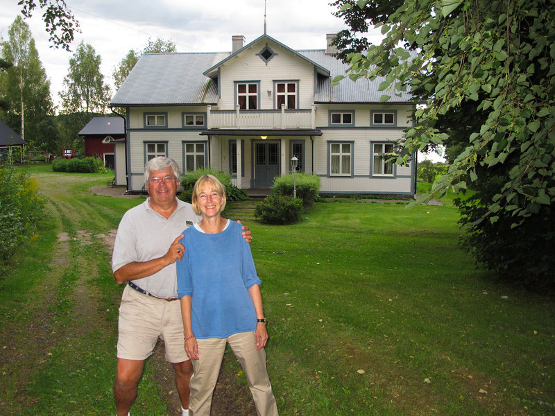 Cousin Annika and Ingemar in front of our grandparents home in Vägsjöfors, in county of Värmland..Every Summer from 1948 to 1959, my family spent about a month here..Annika and her parents lived an hour away in Uddeholm and would visit periodically.