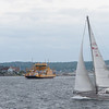 Paula and I decide, later that morning, to go see the sailboat races at Marstrand.45 miles North.