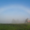 I cannot recall when I have seen this type of rainbow shape...from the fog.