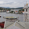 Google Kristiansund...NOT Kristiansand...that is further South....this photo is from our hotel room...This town has had am economic boom, thanks to oil drilling as close as 15 miles off shore.  Note the ship right here...helicopter landing pad...