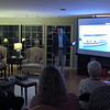Mike Moes showing a photo of a new Electrically powered harbor boat...they recently bought three of these in Oregon and are now in process of renting them out for up to eight hours. Max speed is 6 knots.