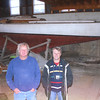 Tom Moes, with Ingemar's cousin, also Gunnar Svala, who was equally fascinated by finding a Swedish Tumlare in Vermilion. Photo from 2006.