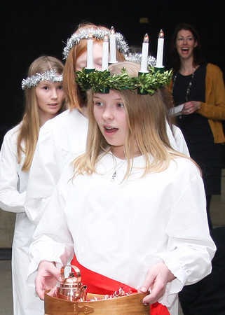 Cleveland's Swedish Cultural Society holds LUCIA party & dinner at Gates Mills on December 15, 2013
