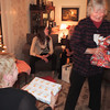 Birgitta has chosen her package..Malou in the foreground.