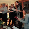 We are singing...... Nu tas julegranen ut ut ut ! Christmas is over, throw out the tree.
