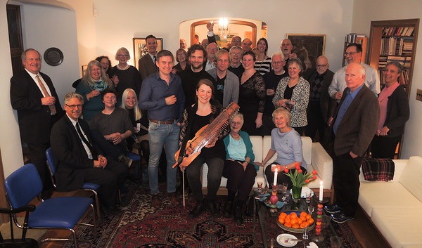 March 28, 2017, Astri hosts Musical Reception; Emilia Amper, Swedish and Frode Haltli, Norwegian.