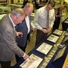Many drawings of the castle were on display, ranging from the 1200's to the present. Swedish Consulate Michael Miller, Marty Bergman and Michael Lindner are seen here.